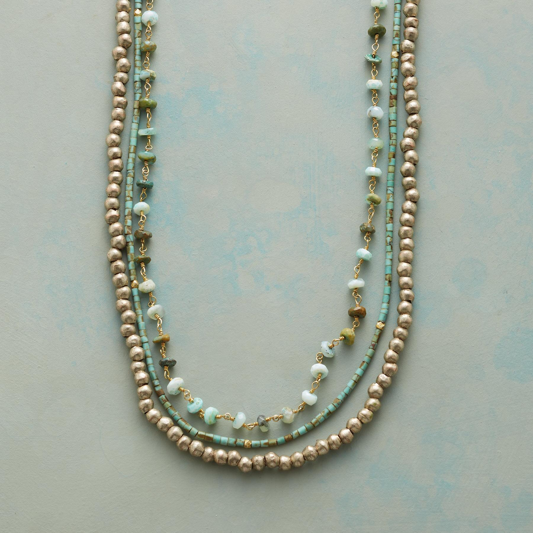 TURQUOISE TRACERY NECKLACE: View 1