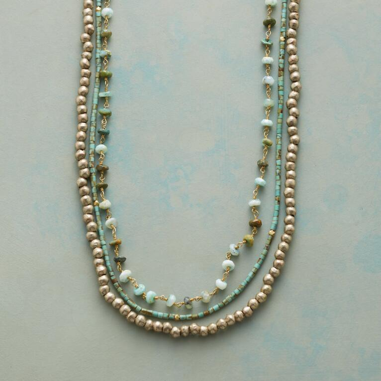 TURQUOISE TRACERY NECKLACE