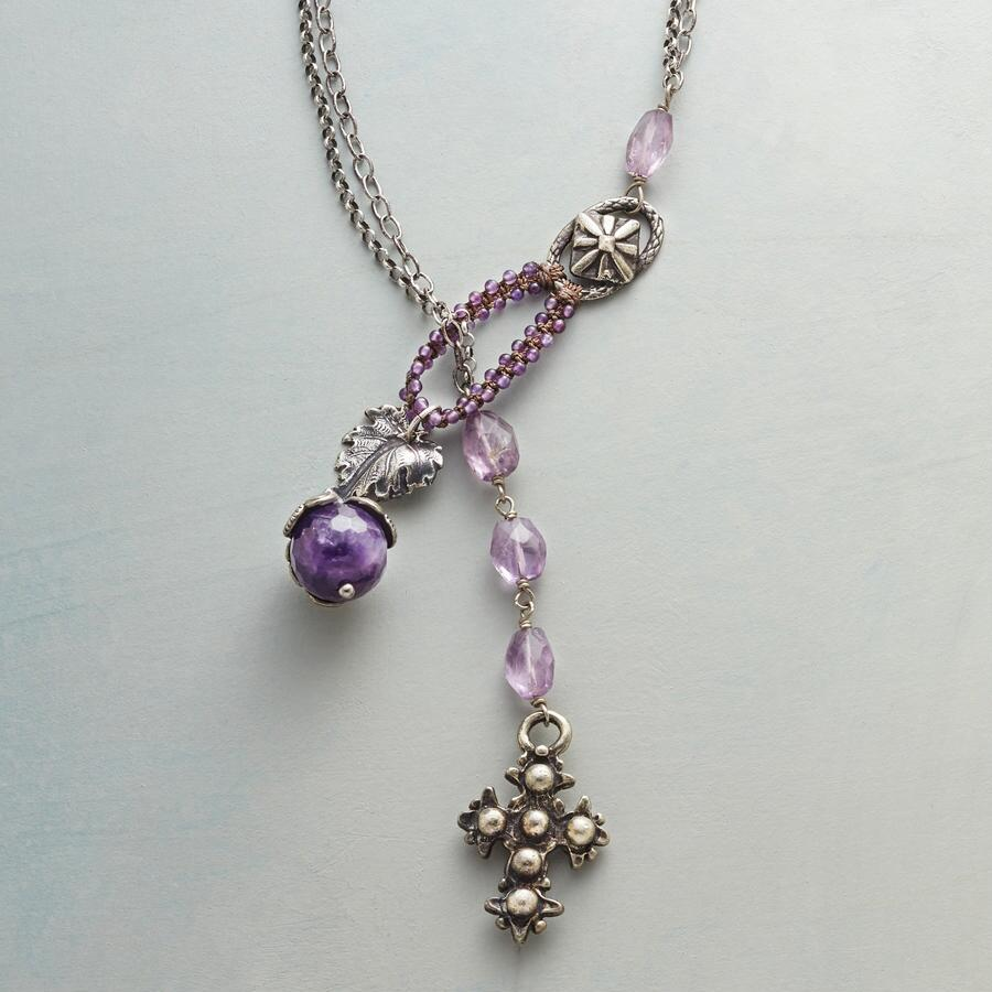 LAVENDER LARIAT NECKLACE