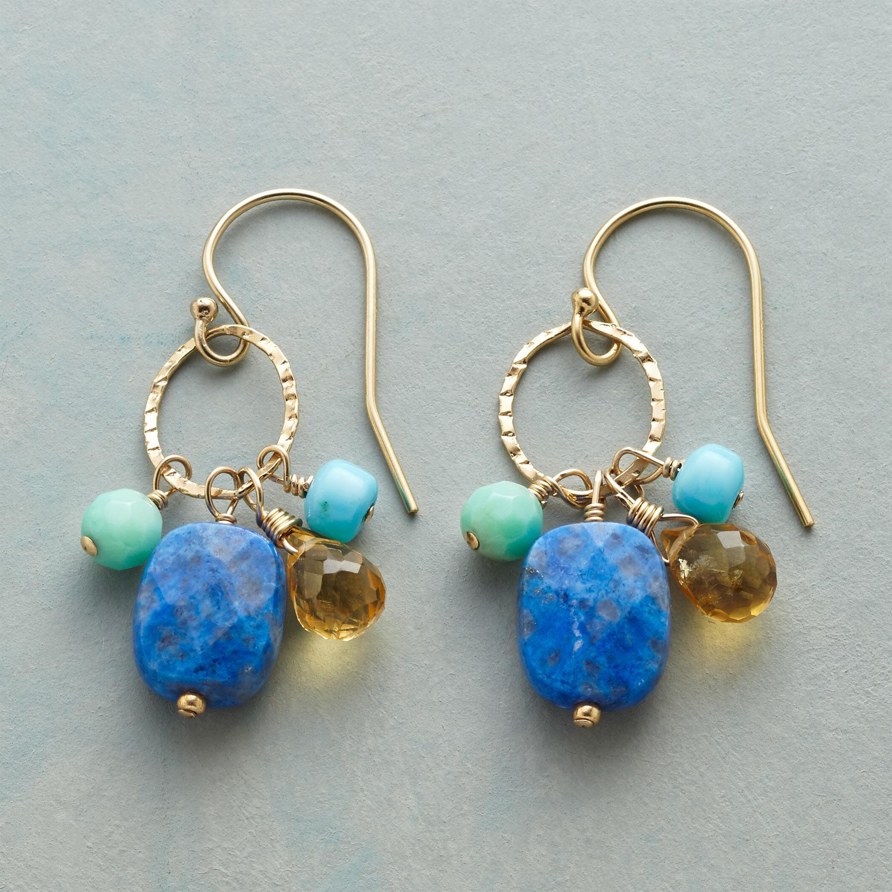 SUNSHINE & BLUE EARRINGS: View 1