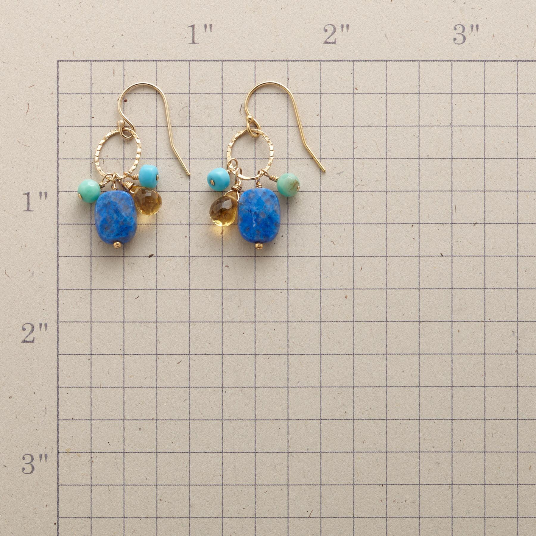 SUNSHINE & BLUE EARRINGS: View 2