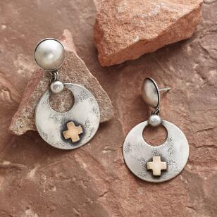 SANTA FE CROSS EARRINGS