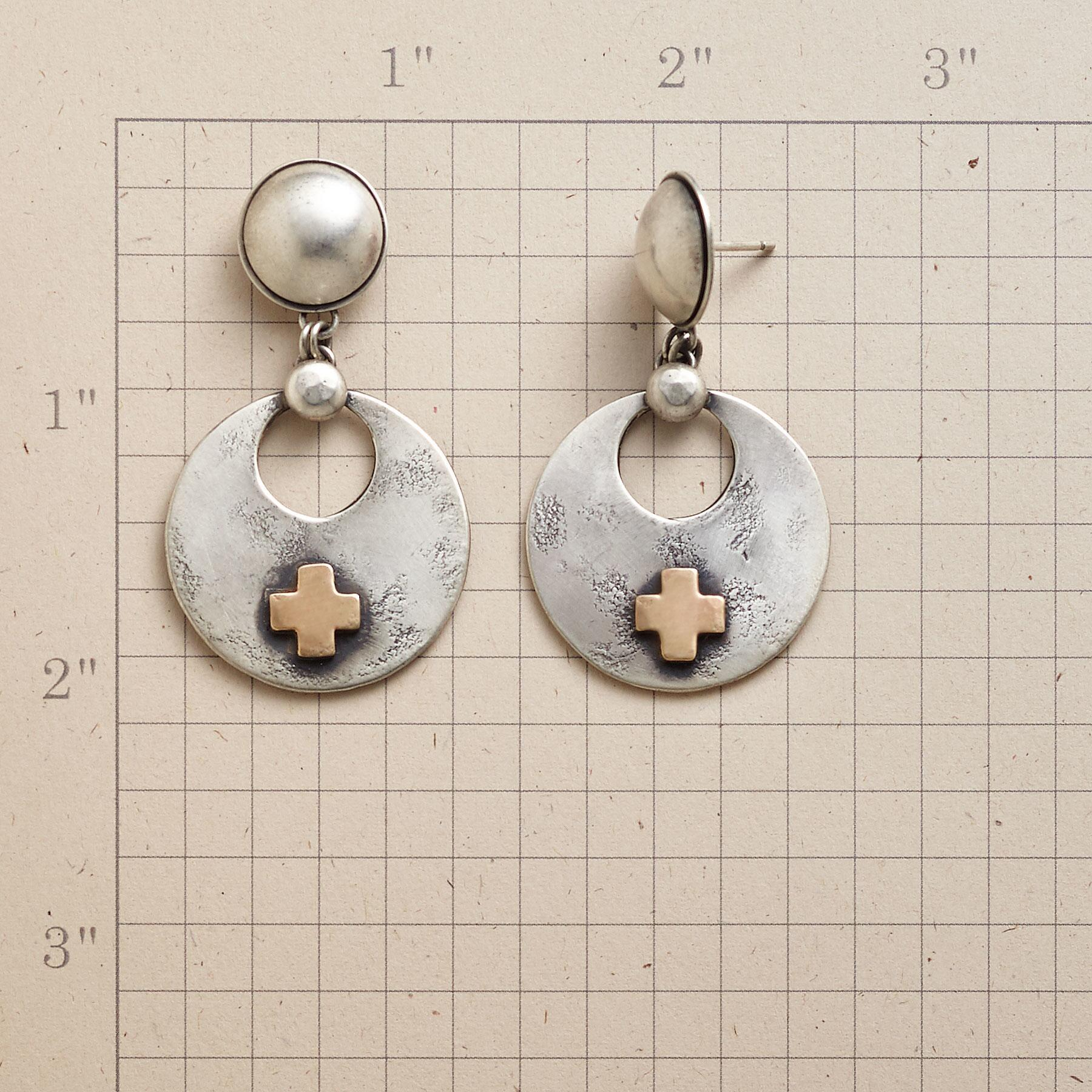 SANTA FE CROSS EARRINGS: View 2