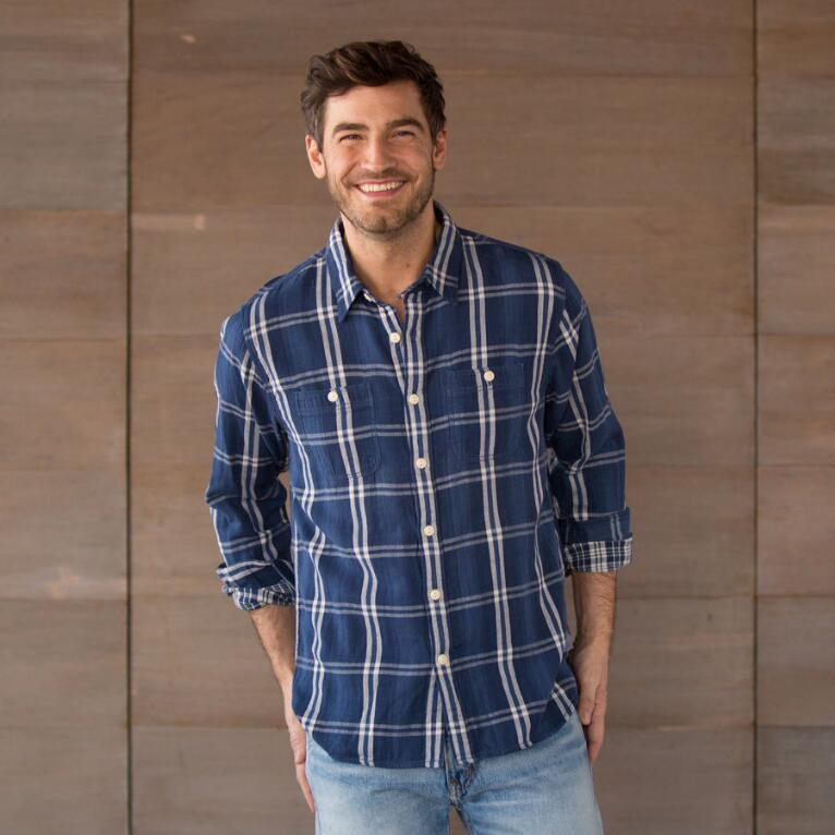 WORDSMITH PLAID SHIRT - DENIM