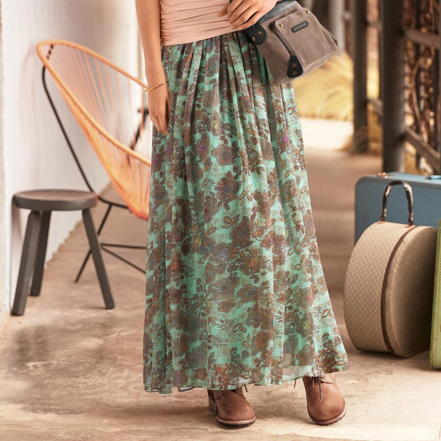 FULL SWEEP FLORALS SKIRT