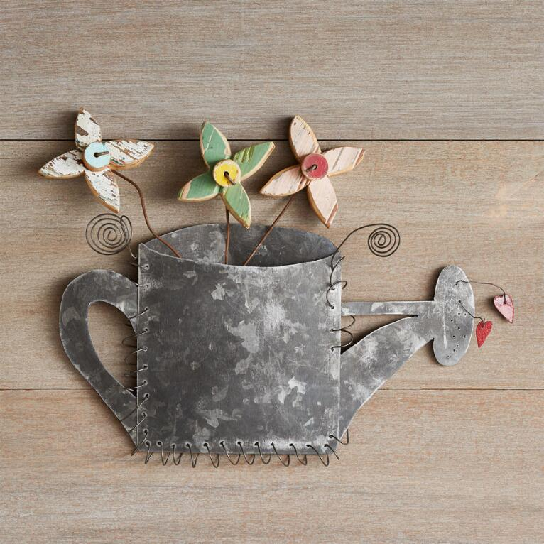 GARDENER'S WATERING CAN WALL ART