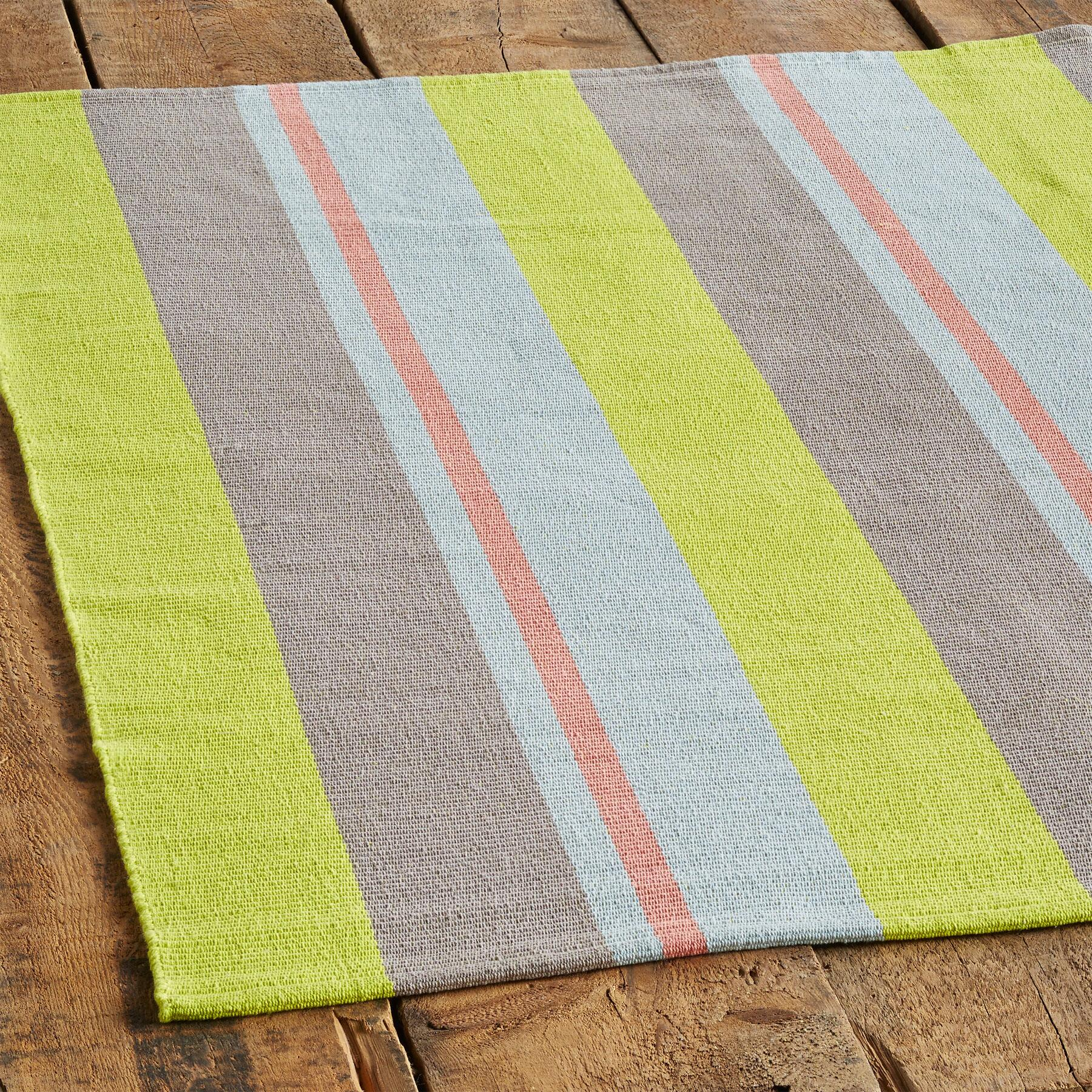 LAGUNA STRIPES WOVEN RUG, LARGE: View 2