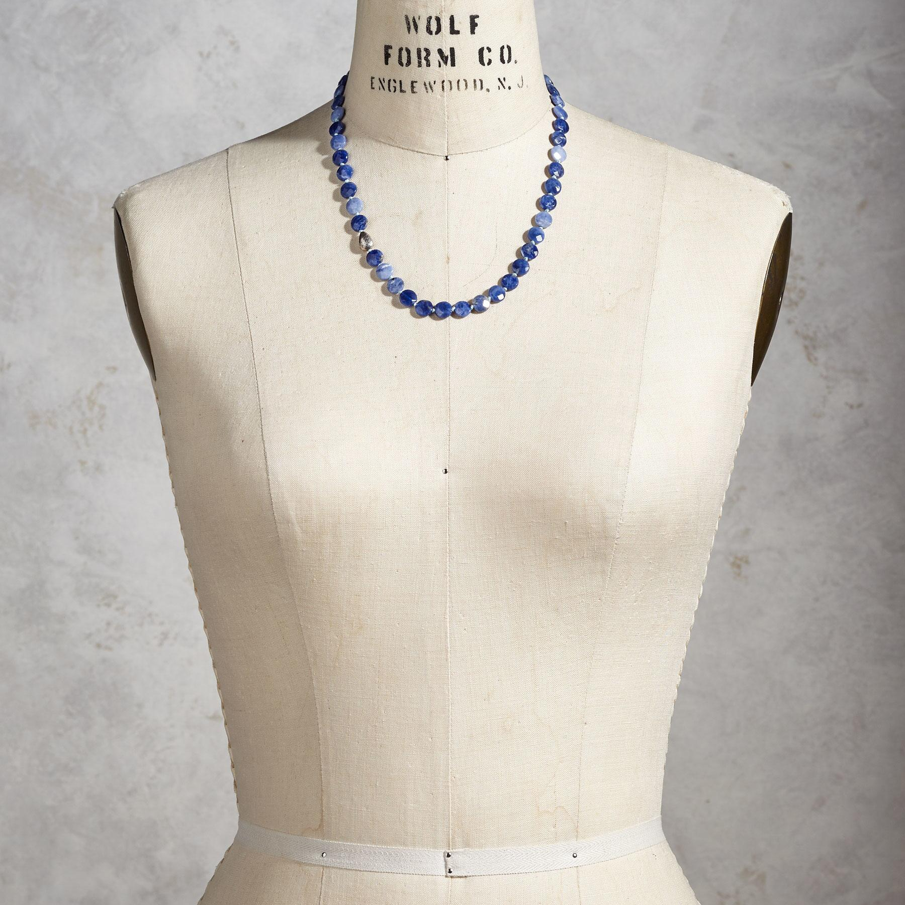 DENIM DOT NECKLACE: View 4