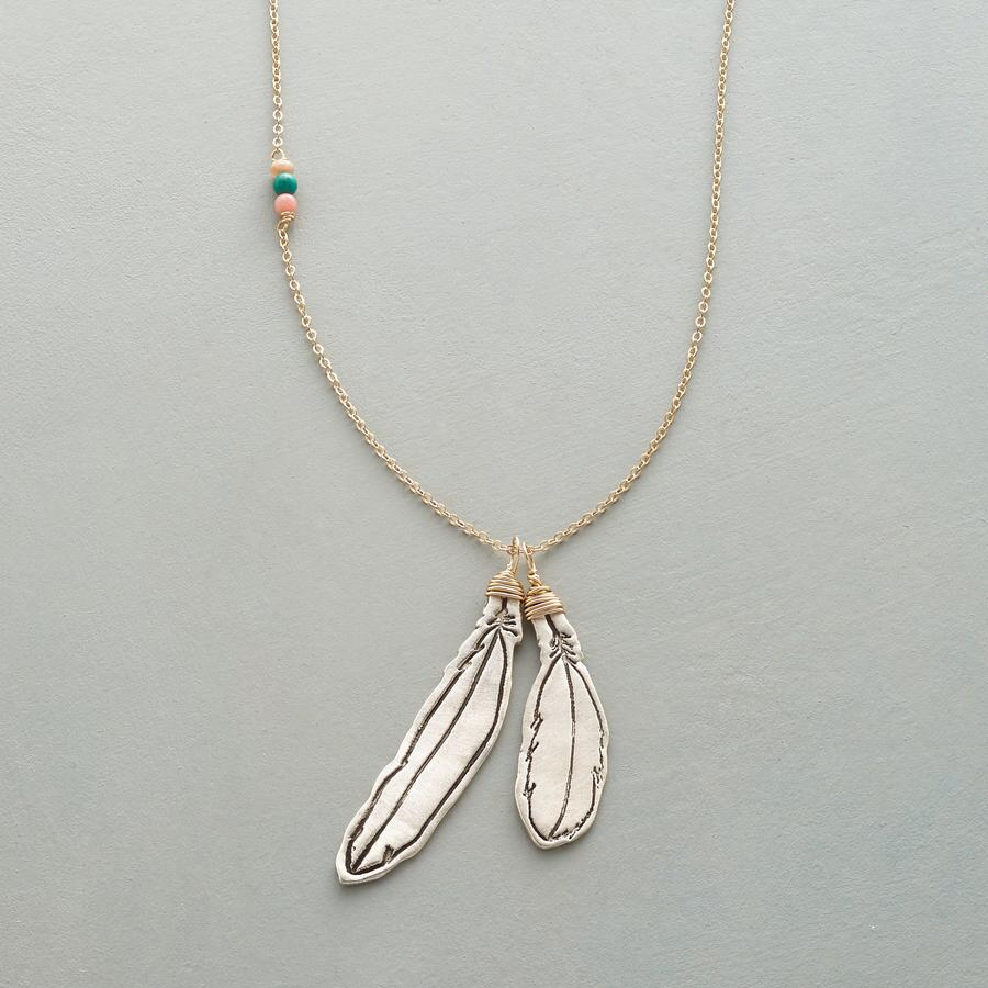 LUCKY FEATHERS NECKLACE