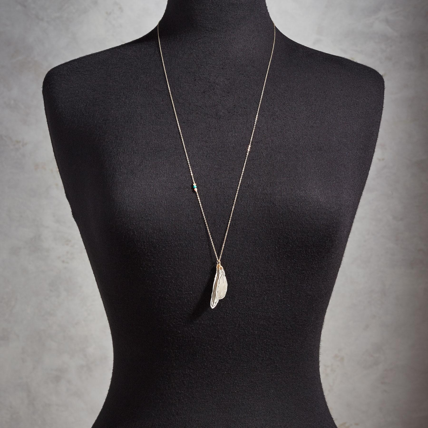 LUCKY FEATHERS NECKLACE: View 3