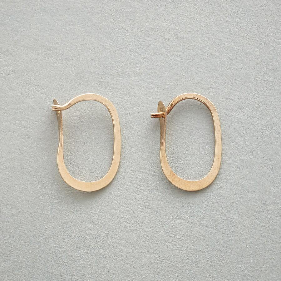 SMALL GOLD ELLIPSE HOOPS