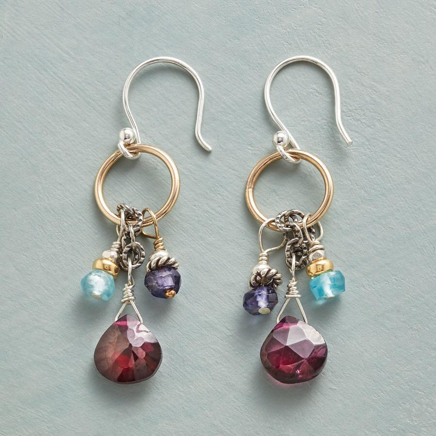 GARNETS AND GOLDEN EARRINGS