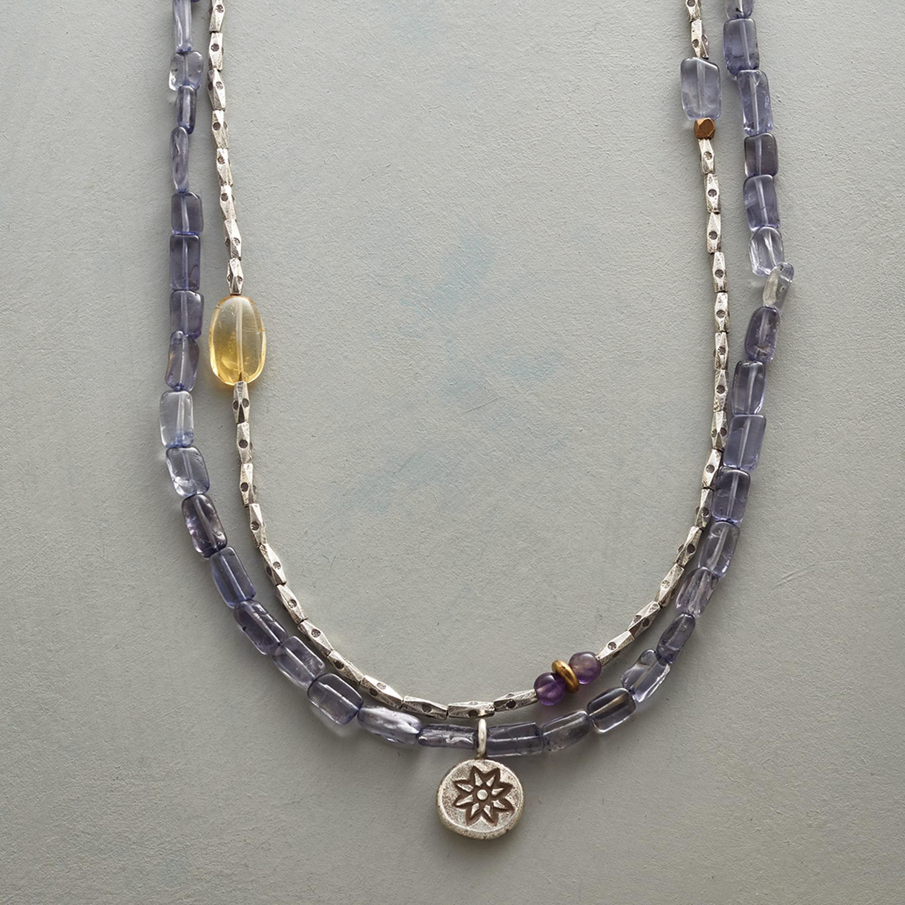 SUNLIGHT AND SKY NECKLACE: View 1