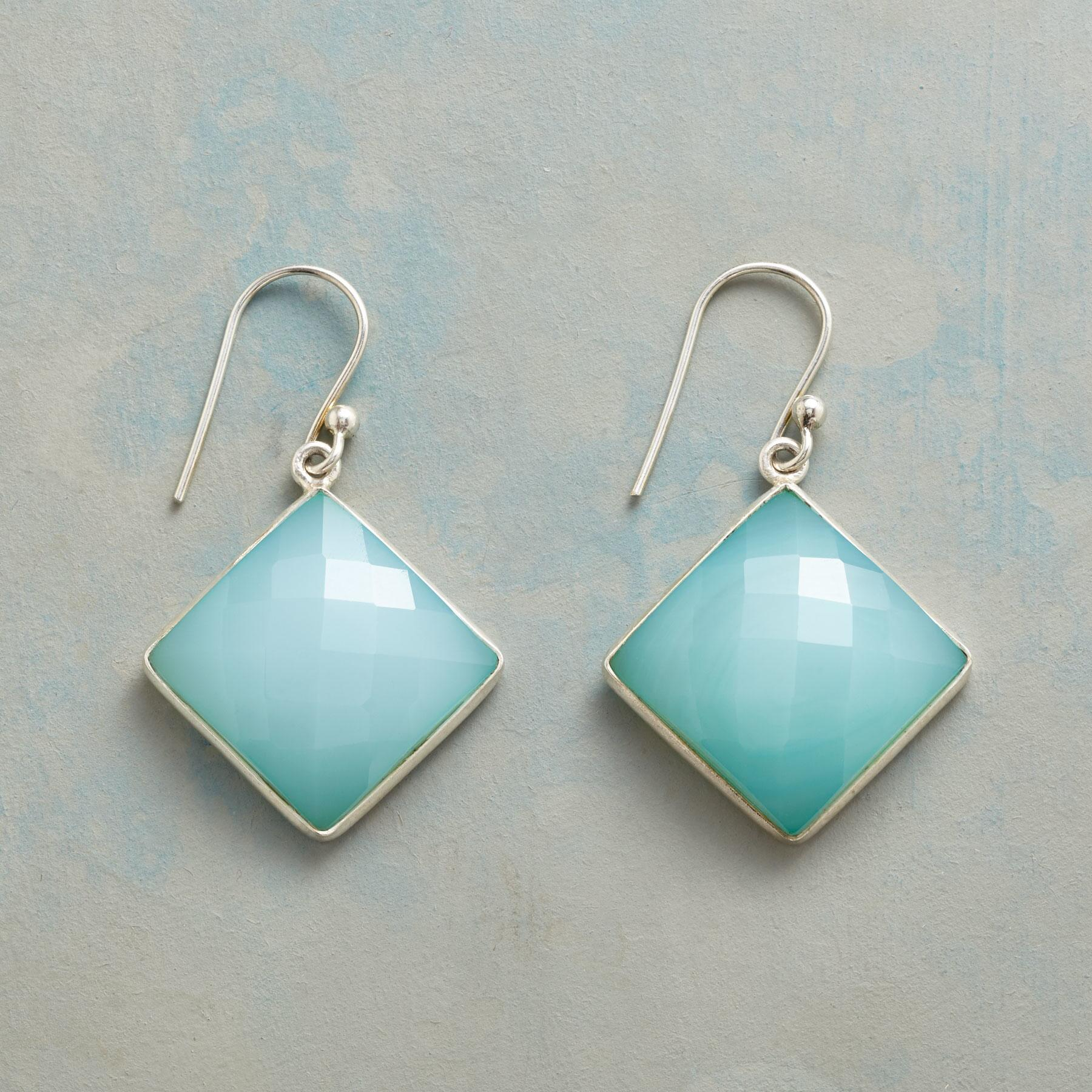 CHECKERED CHALCEDONY EARRINGS: View 1