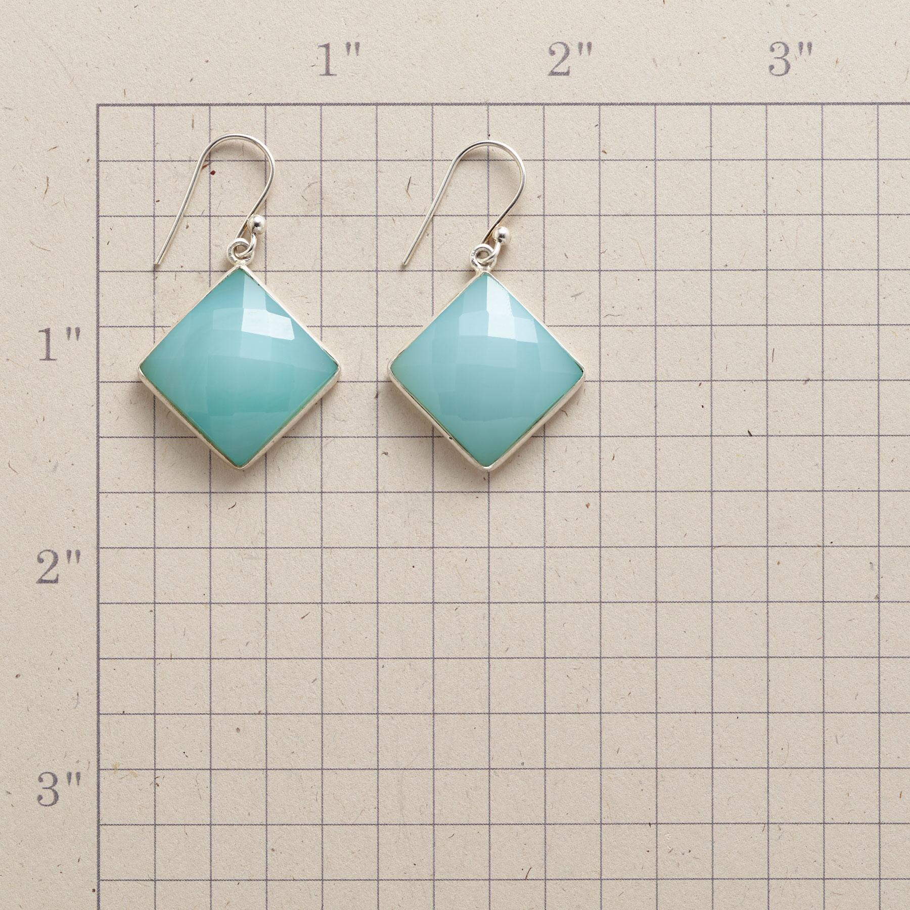 CHECKERED CHALCEDONY EARRINGS: View 2