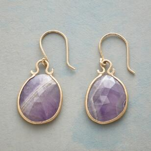 STRIPED AMETHYST EARRINGS