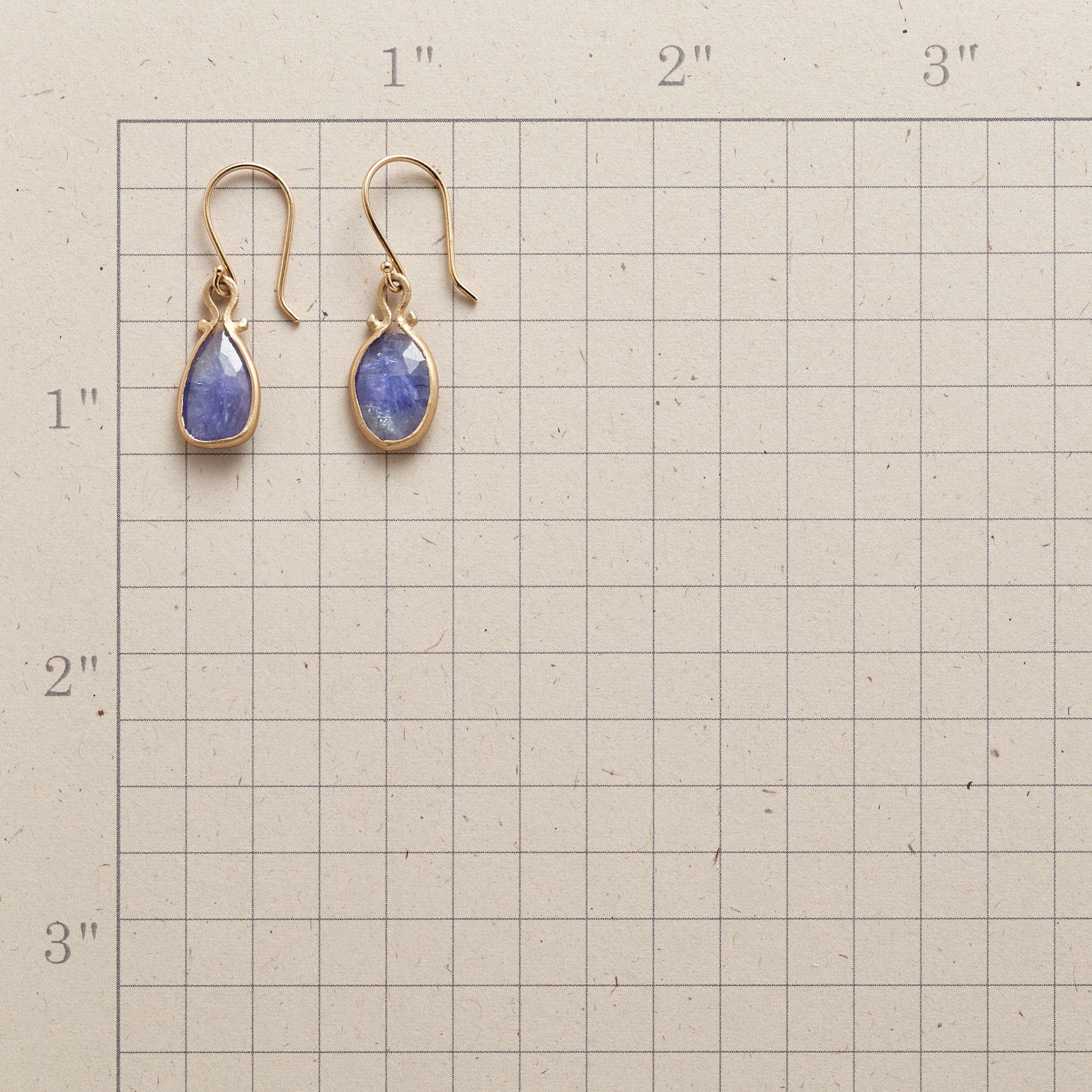 TANZANITE OMEGA EARRINGS: View 2