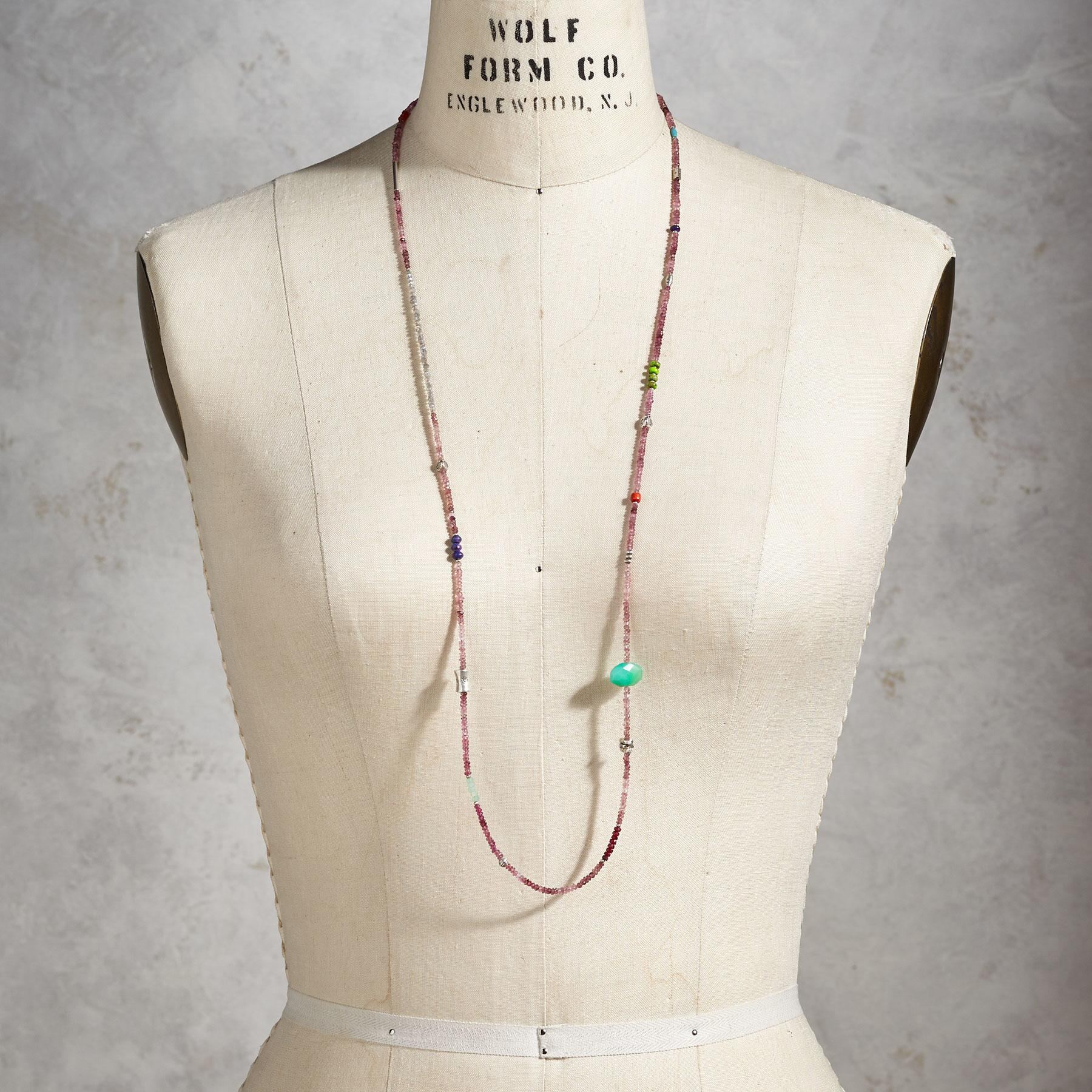 Long Strand Gemstone Necklace | Robert Redford's Sundance Catalog
