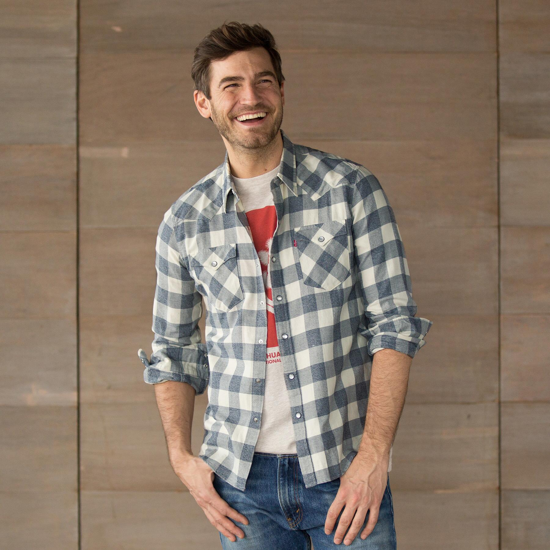 LEVIS BARSTOW SHIRT DK GRY: View 1