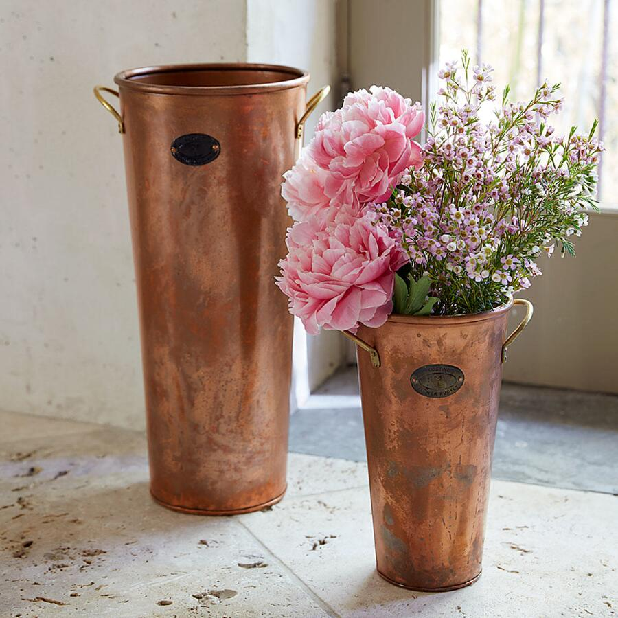 COPPER FLOWER BUCKET