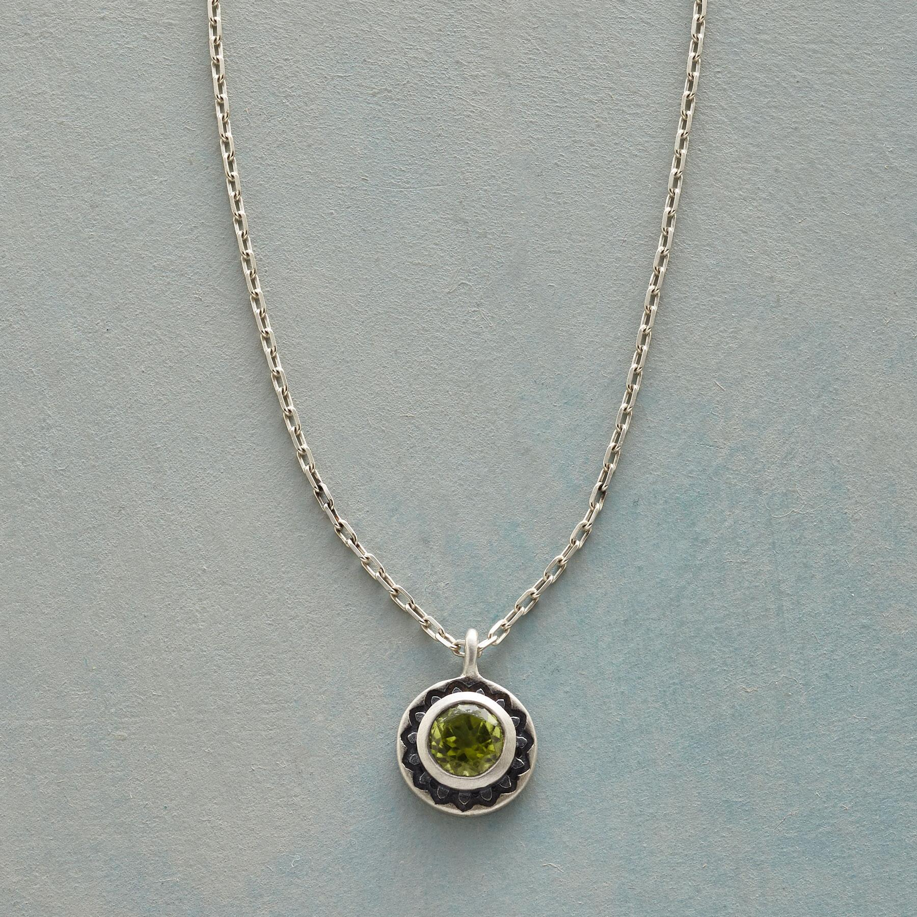 LOTUS BIRTHSTONE NECKLACE: View 1