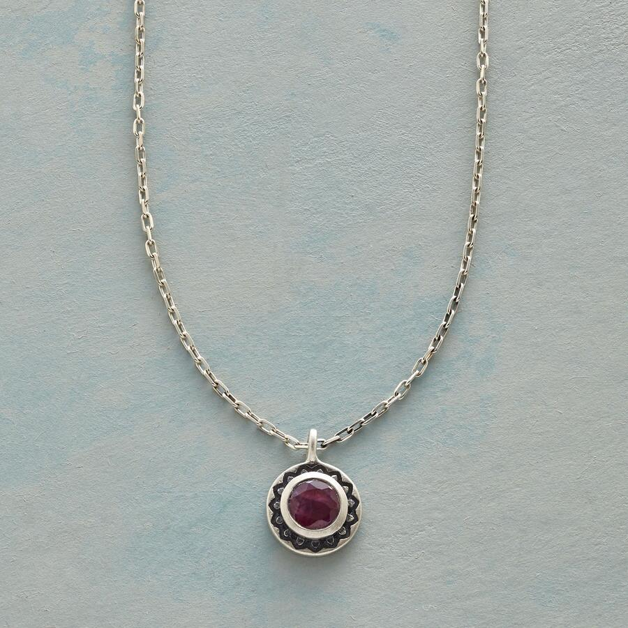 LOTUS BIRTHSTONE NECKLACE