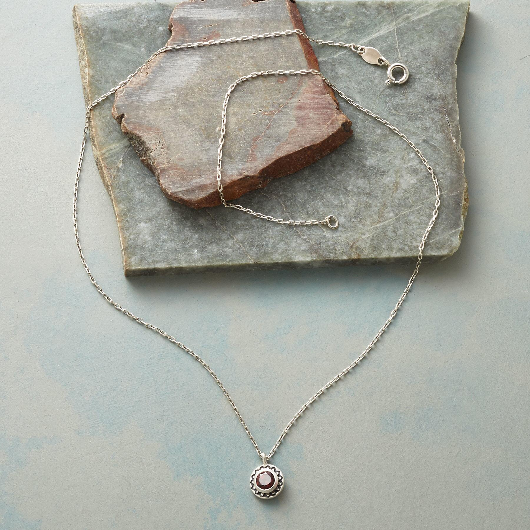 LOTUS BIRTHSTONE NECKLACE: View 2