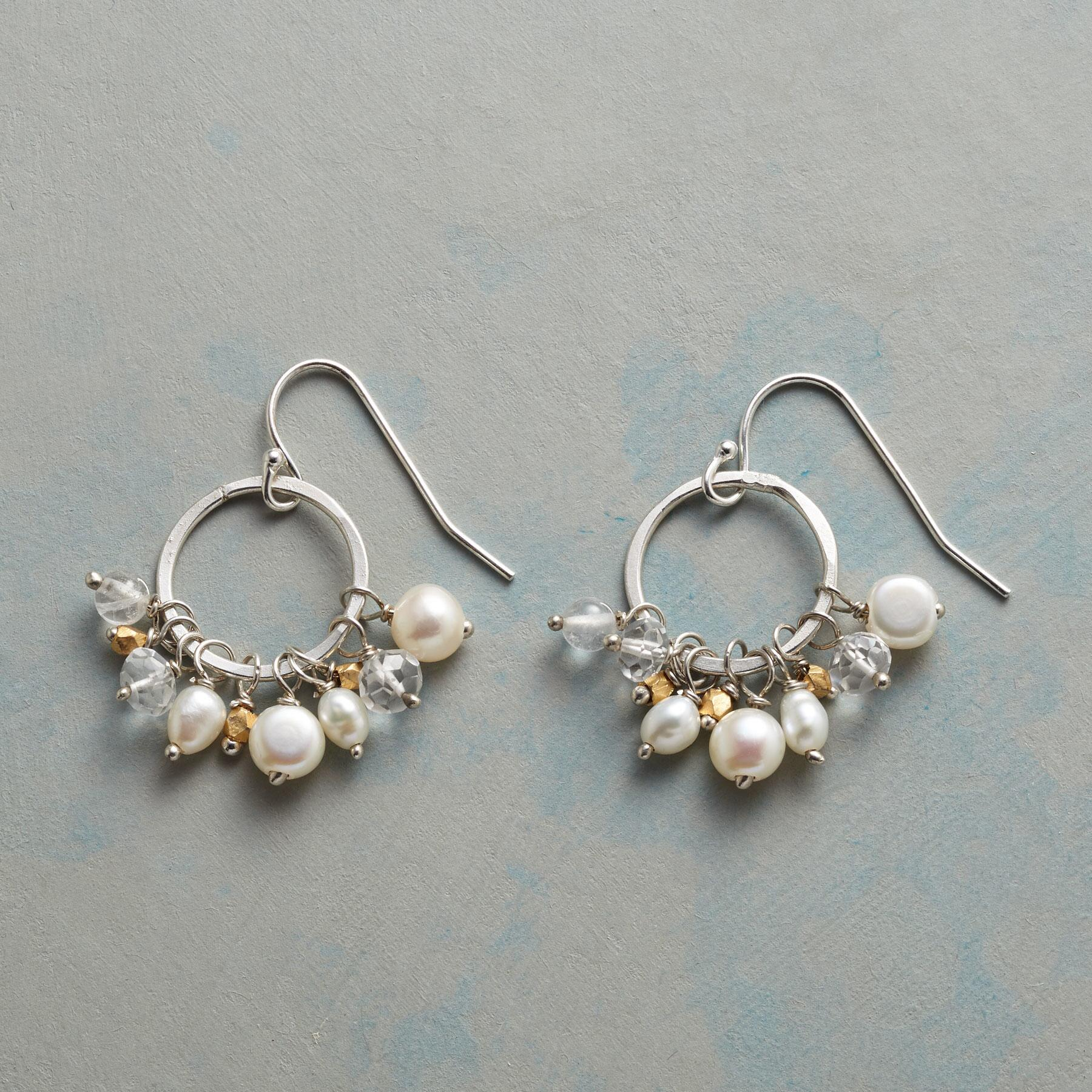 PEARL PETTICOAT EARRINGS: View 1