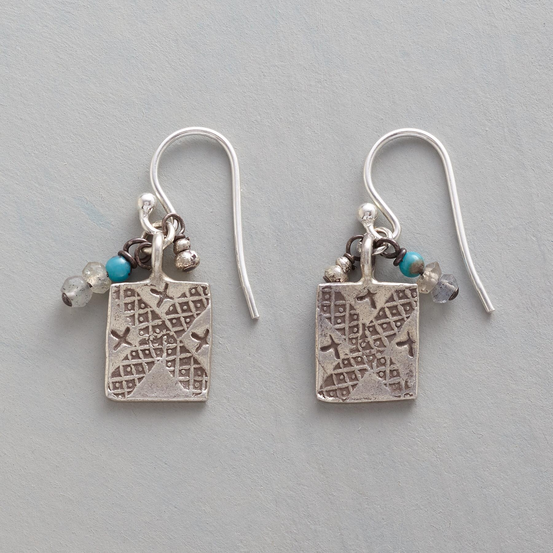 CHARMED TURQUOISE EARRINGS: View 1