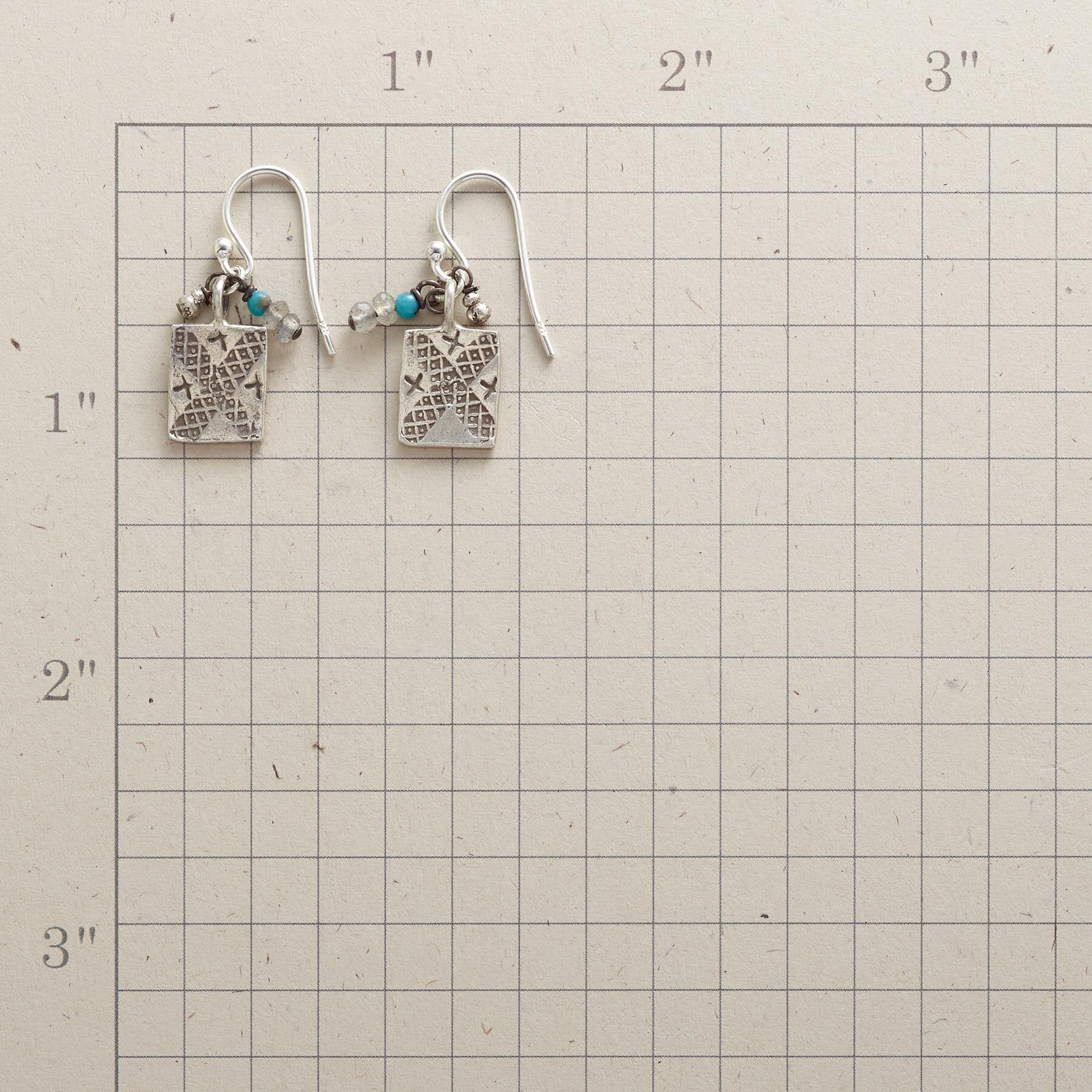 CHARMED TURQUOISE EARRINGS: View 2