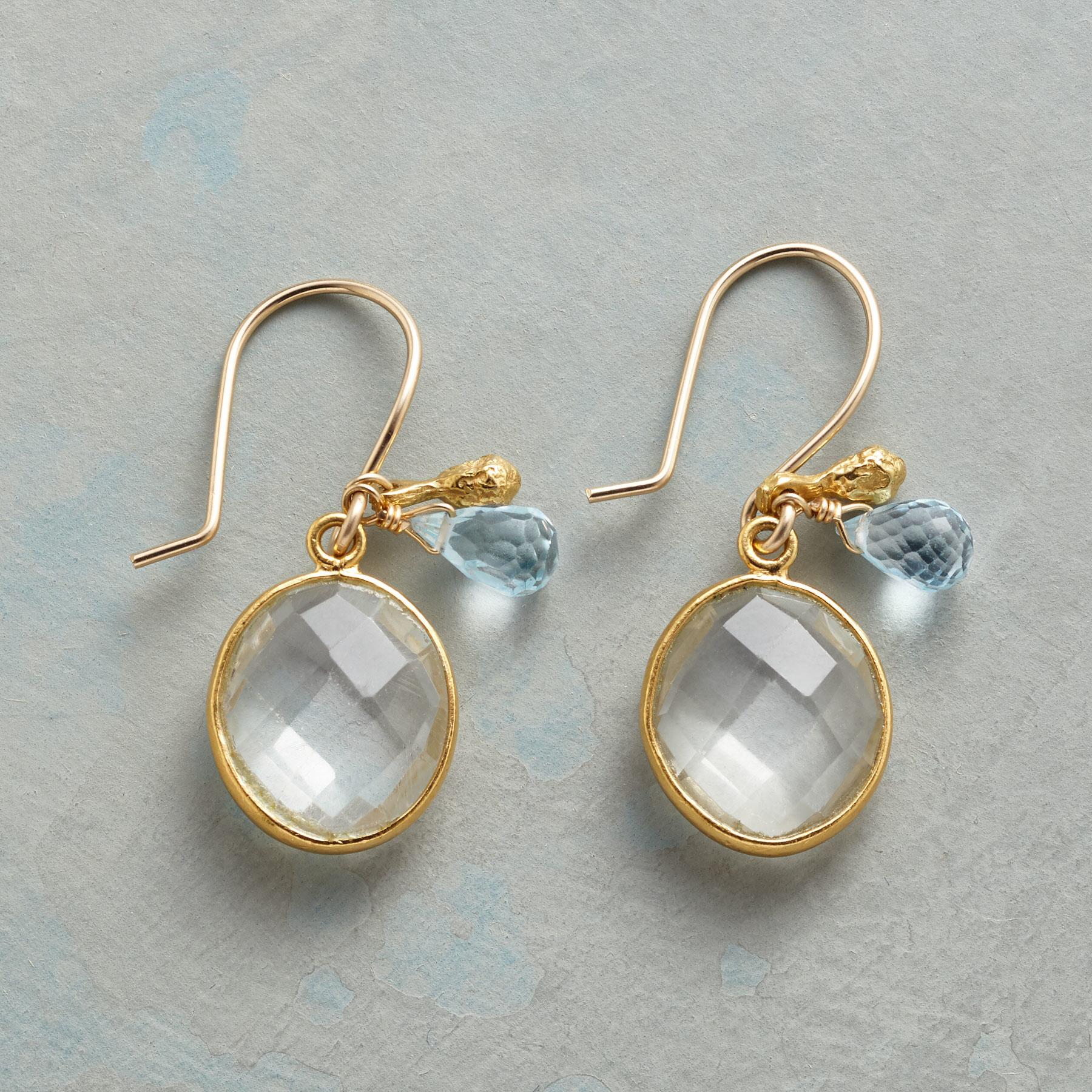 BLUE DROPLET EARRINGS: View 1