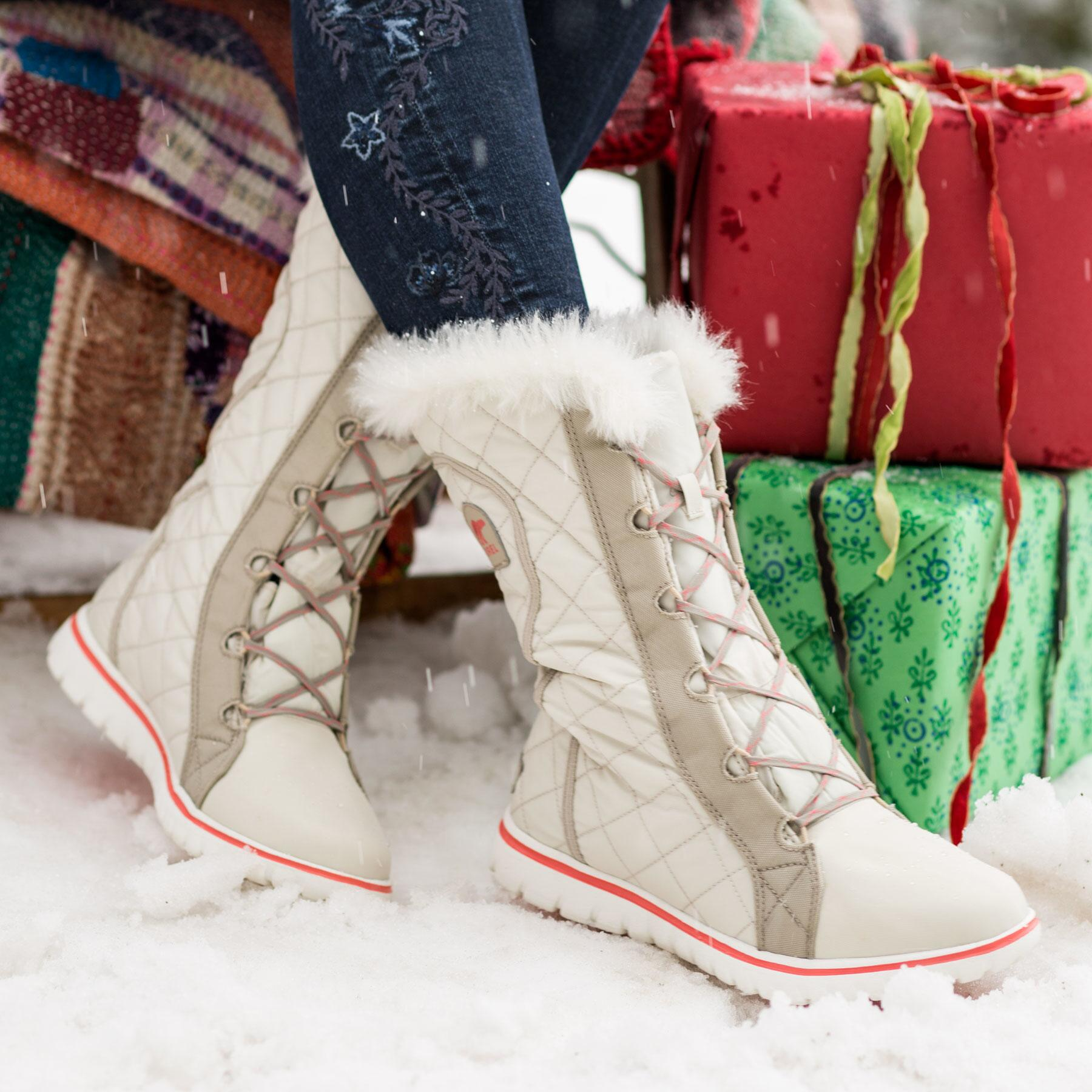 COZY CATE QUILTED BOOTS BY SOREL: View 1