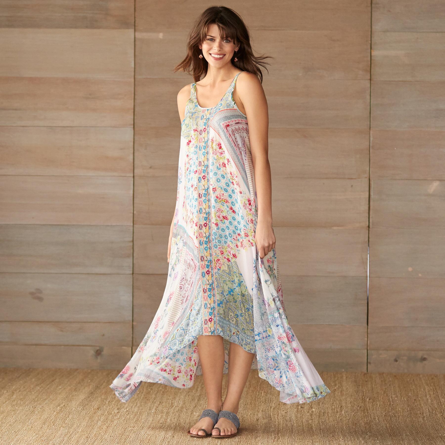 LOVE ASYMETYRICAL DRESS-PRINT A: View 1