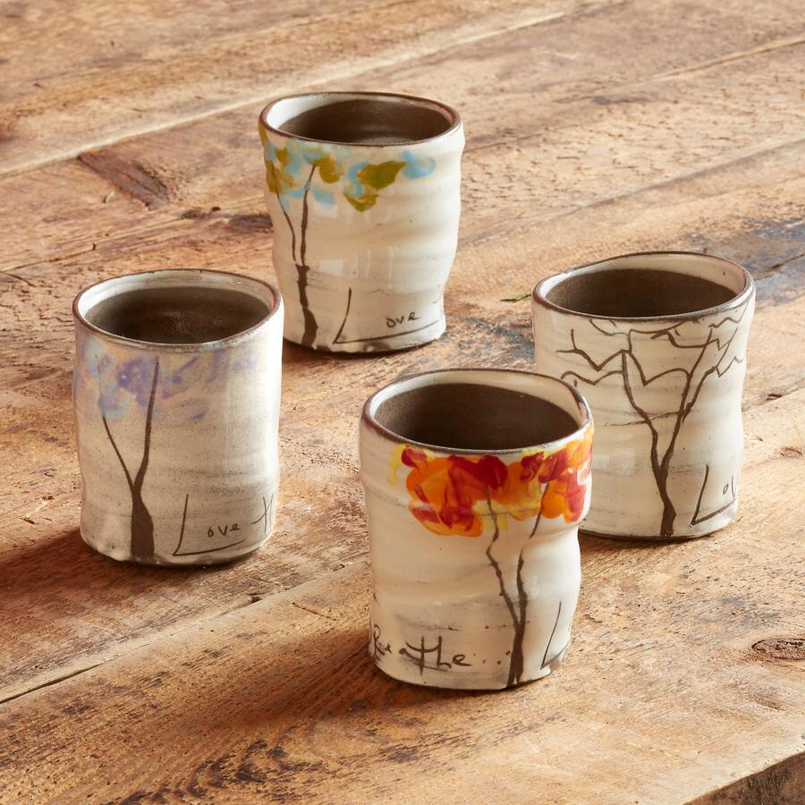 SENTIMENT FOUR SEASONS TREE CUPS