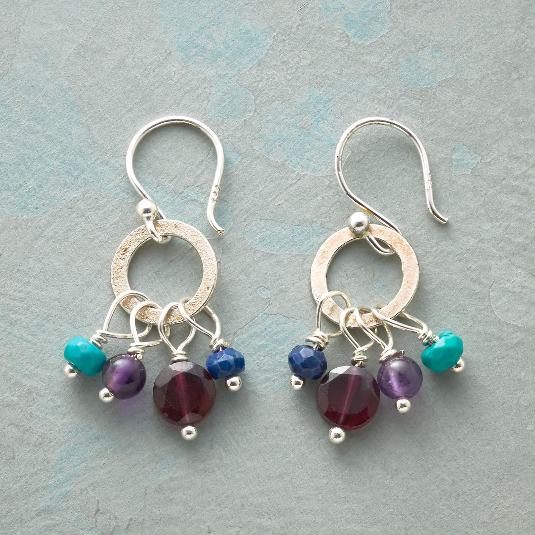 TURQUOISE TIDBIT EARRINGS: View 1