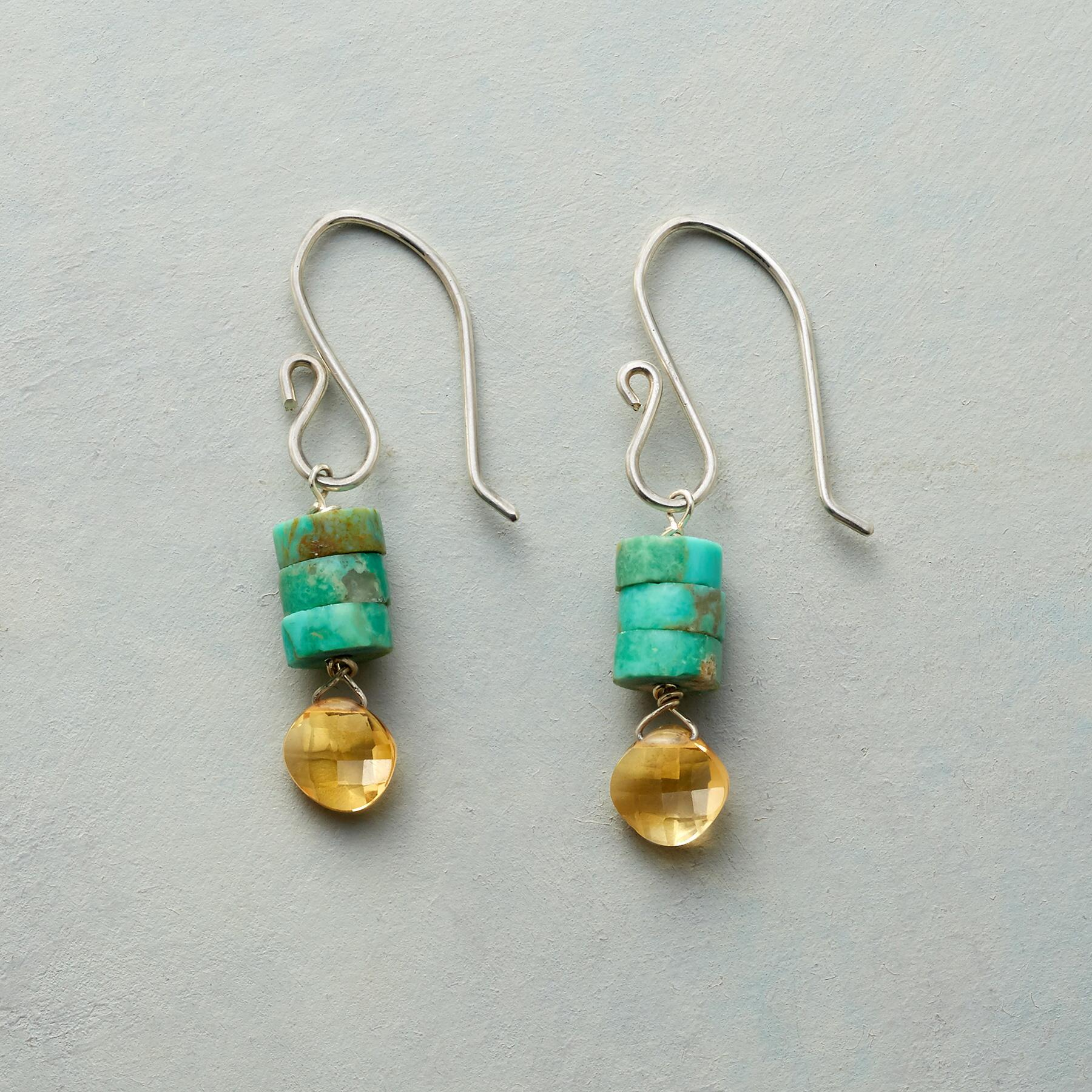 TURQUOISE TOWER EARRINGS: View 1
