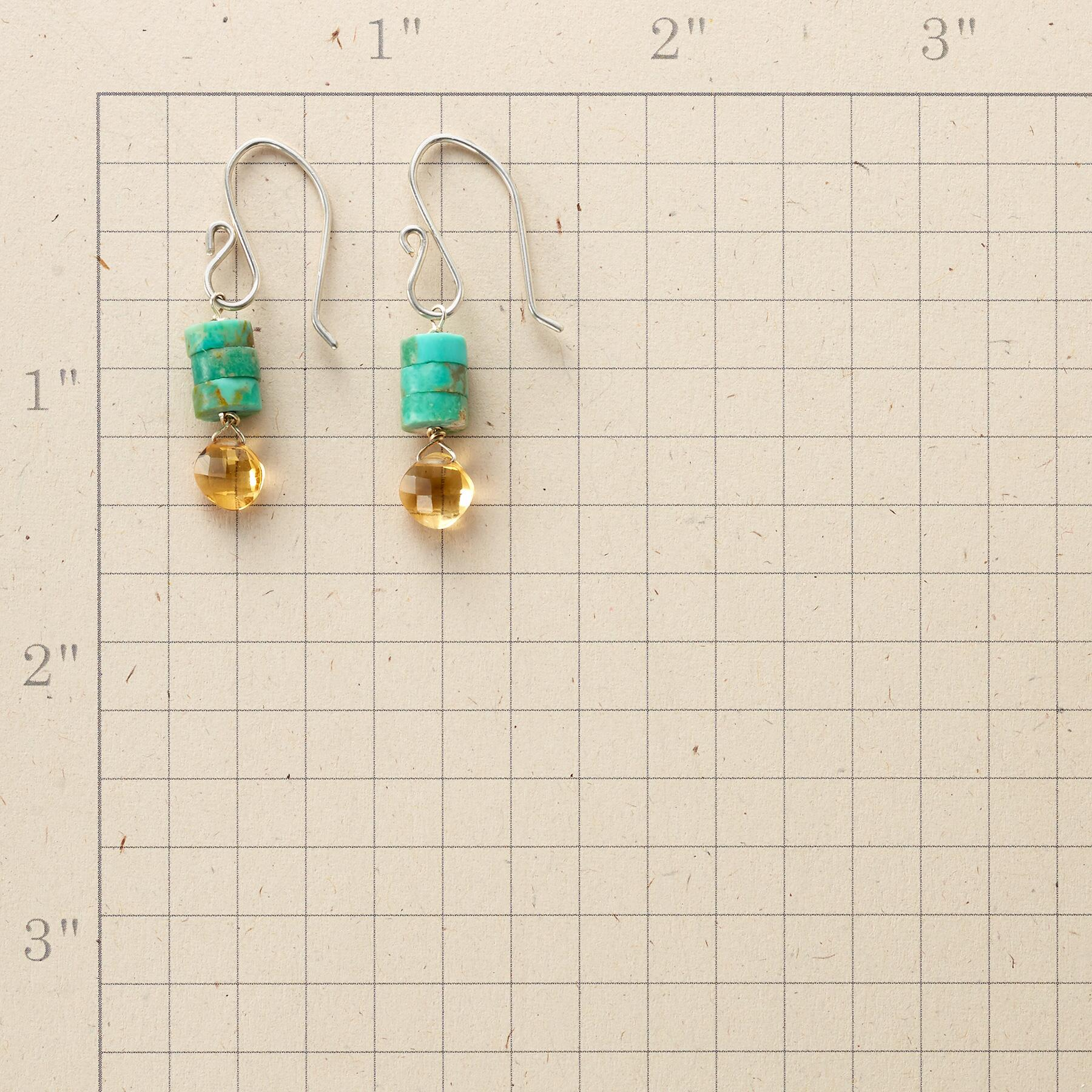TURQUOISE TOWER EARRINGS: View 2