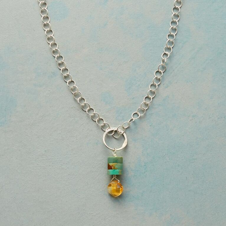 TURQUOISE TOWER NECKLACE