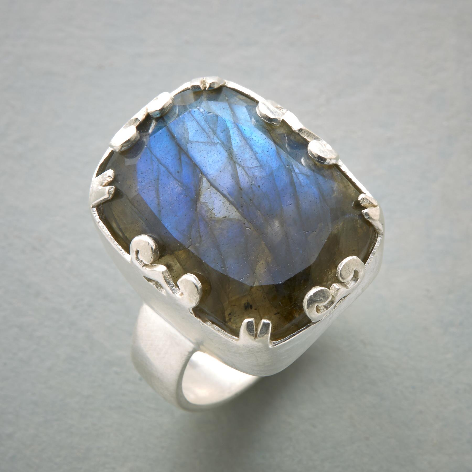 LOVE OF LABRADORITE RING: View 1
