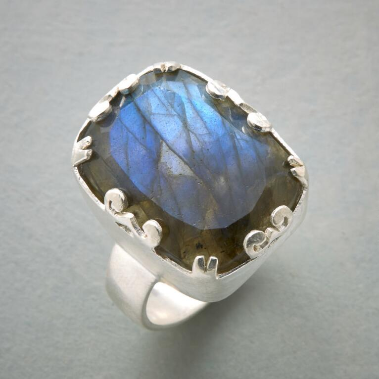 LOVE OF LABRADORITE RING