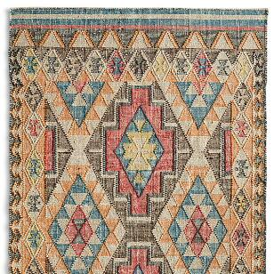 FADED DIAMONDS KILIM RUG - SM