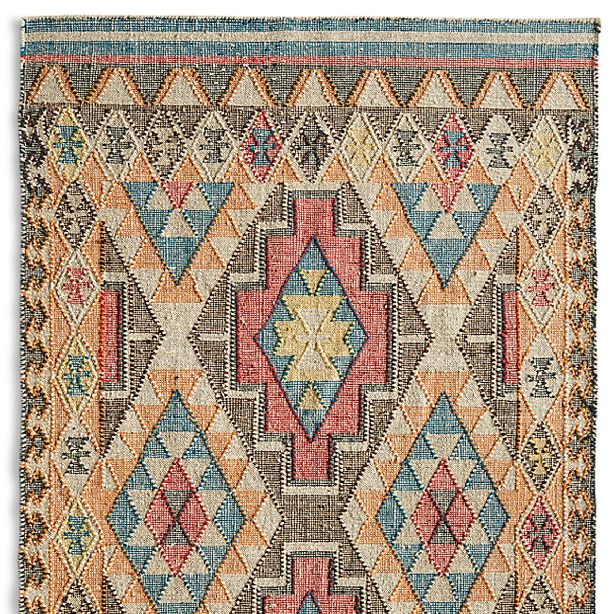 FADED DIAMONDS KILIM RUG - SM: View 1