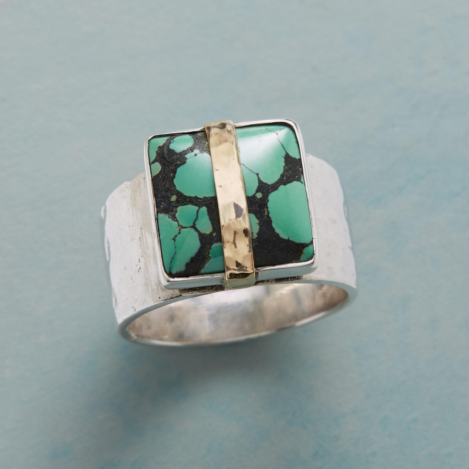 TIE DYE TURQUOISE RING: View 1