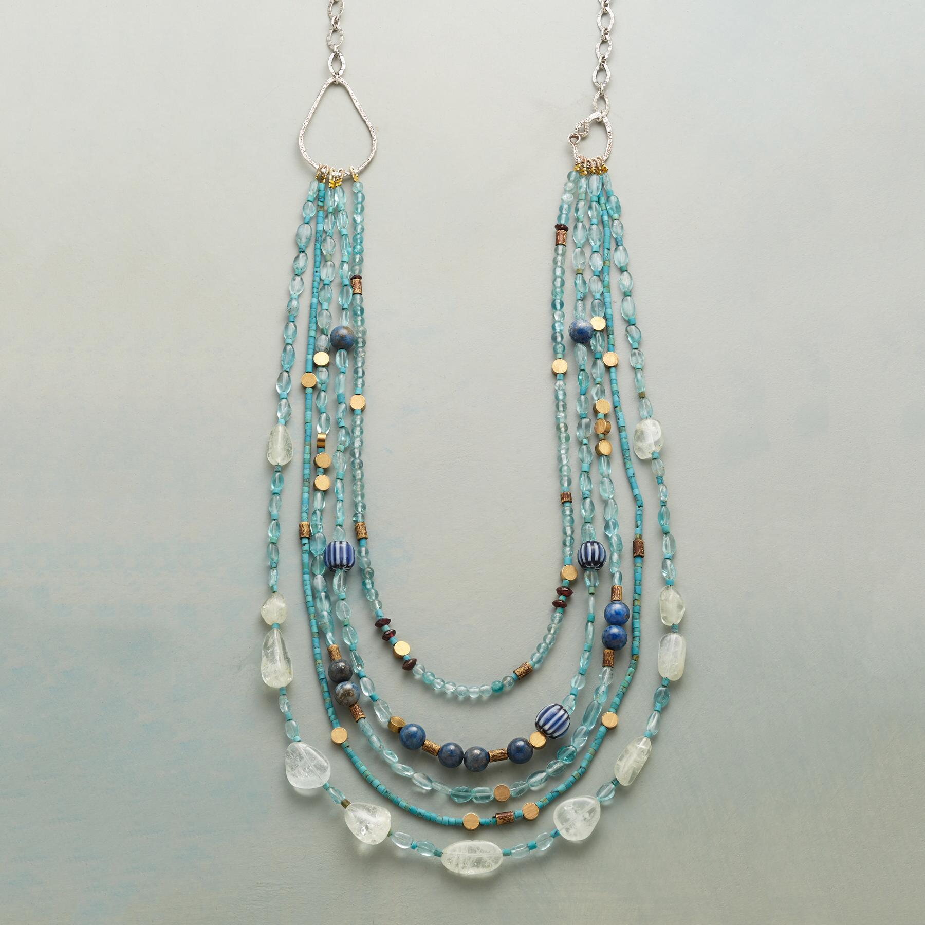 BRASSY BLUE NECKLACE: View 1