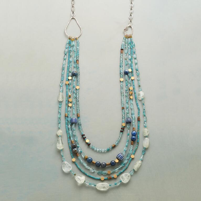 BRASSY BLUE NECKLACE