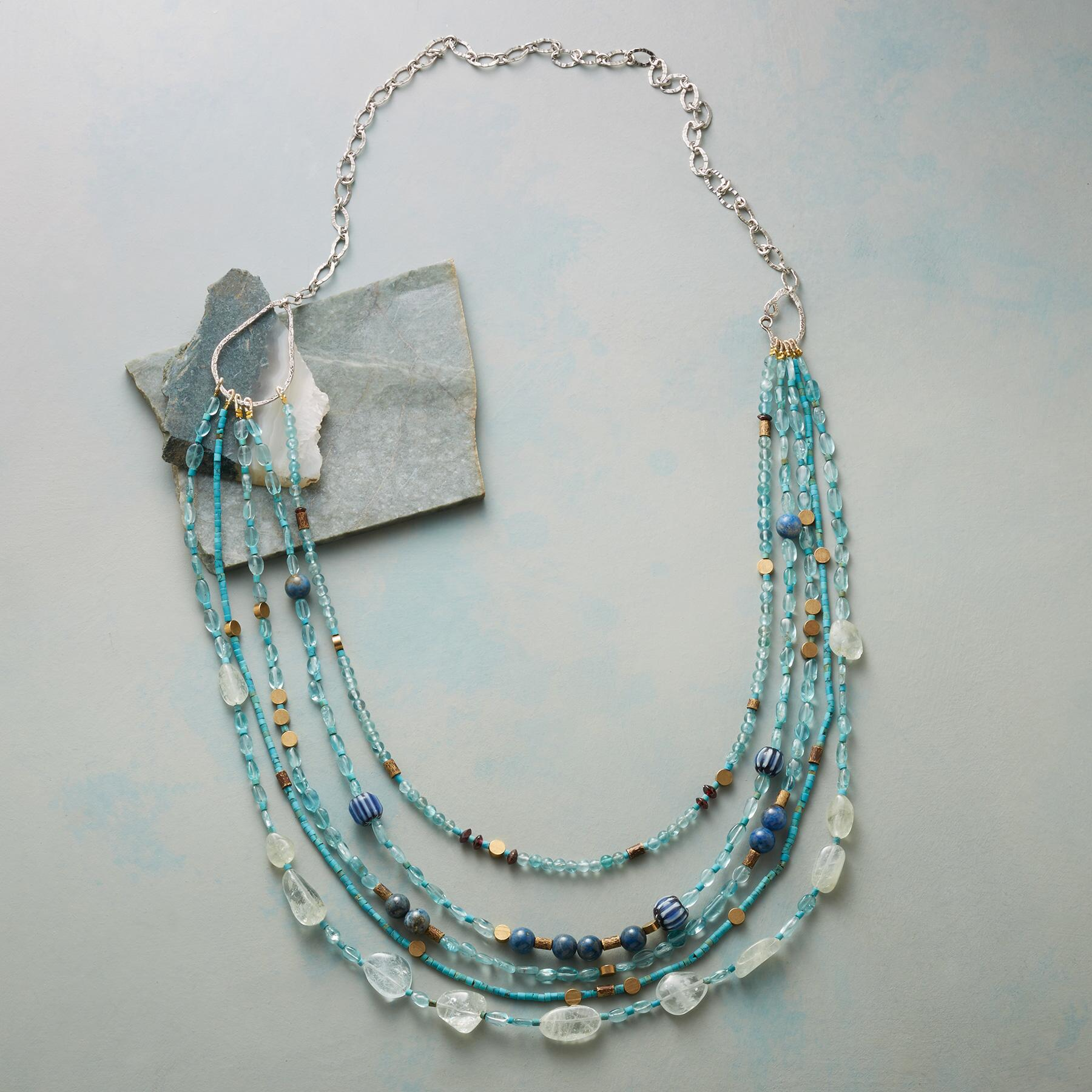 BRASSY BLUE NECKLACE: View 2