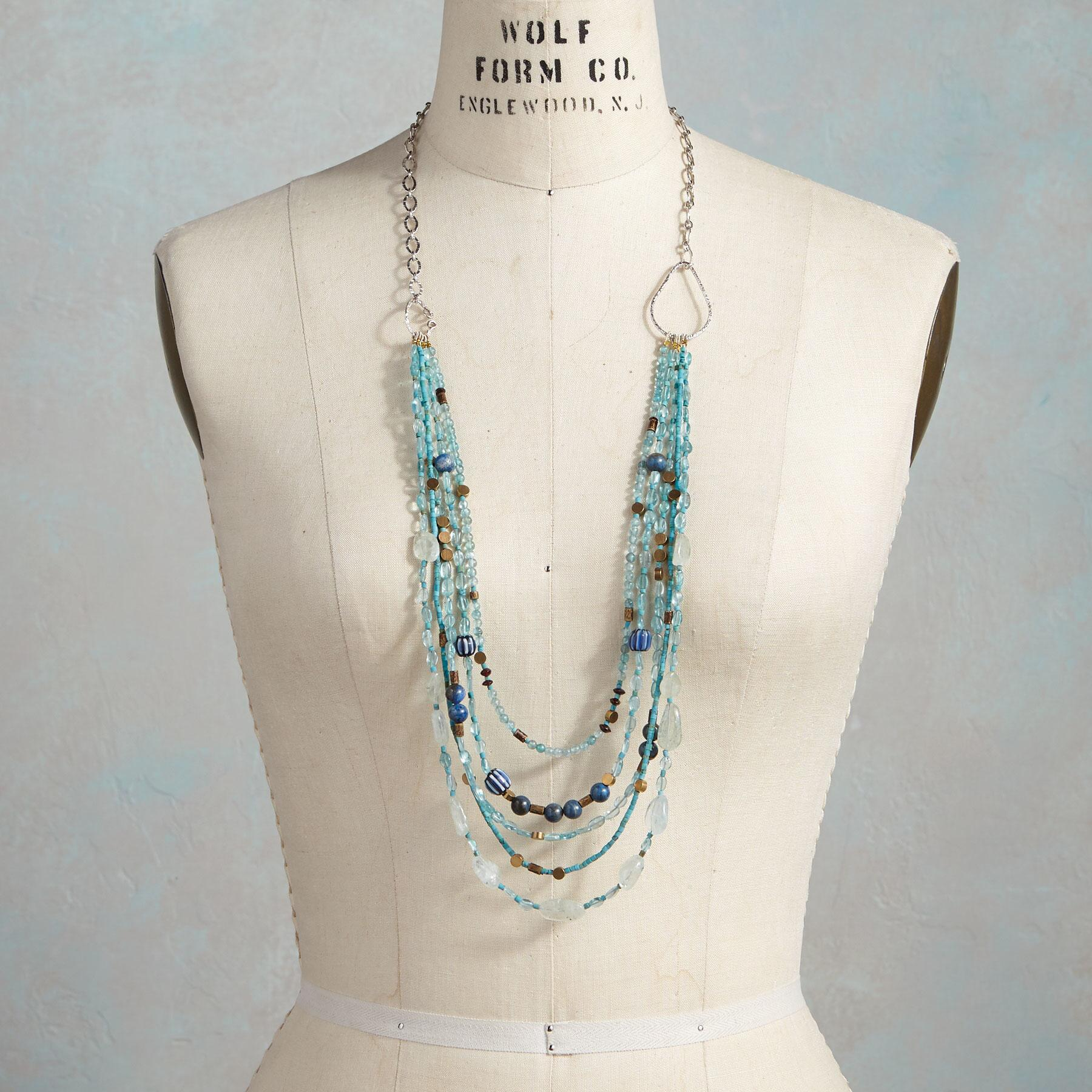 BRASSY BLUE NECKLACE: View 3