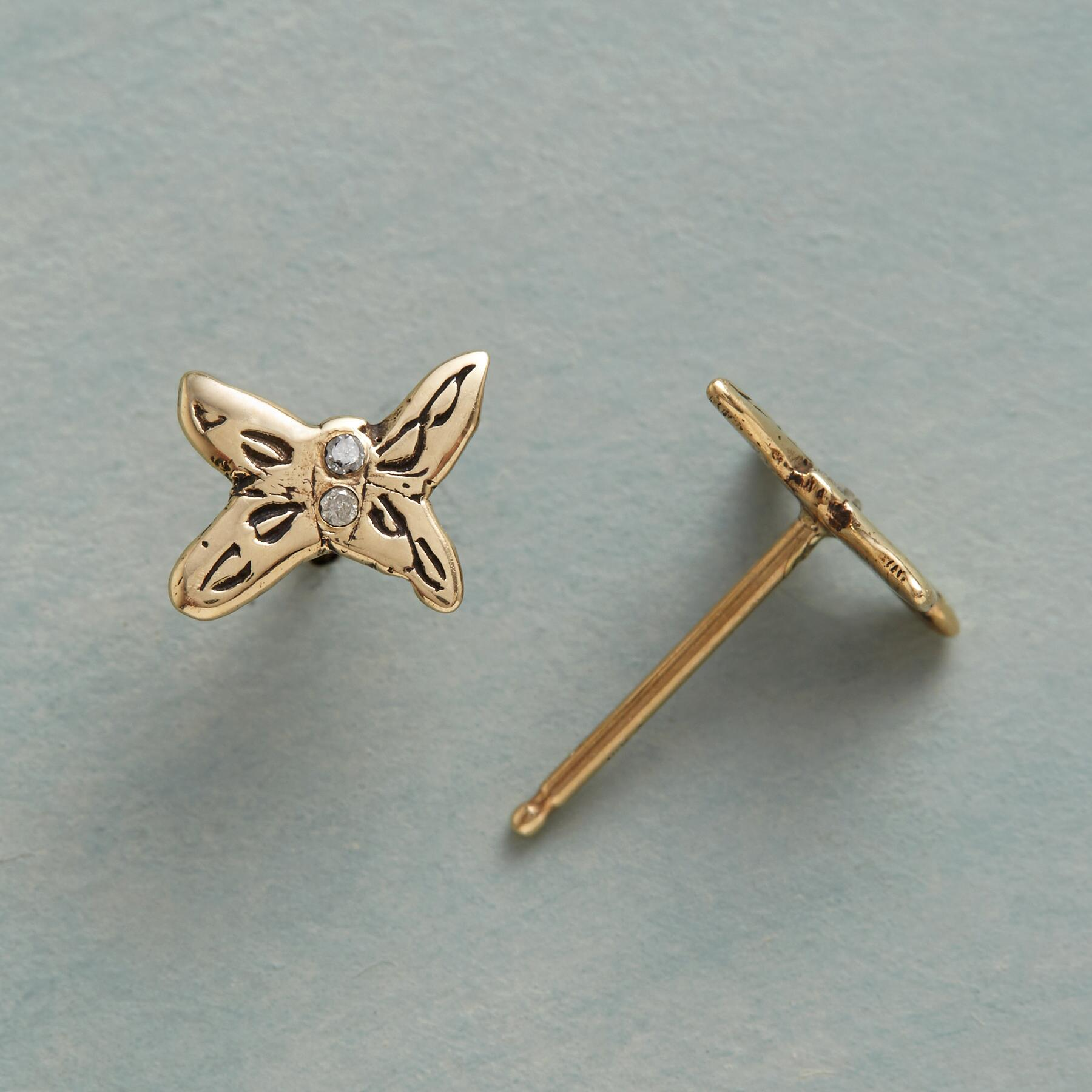 DIAMOND BUTTERFLY EARRINGS: View 1