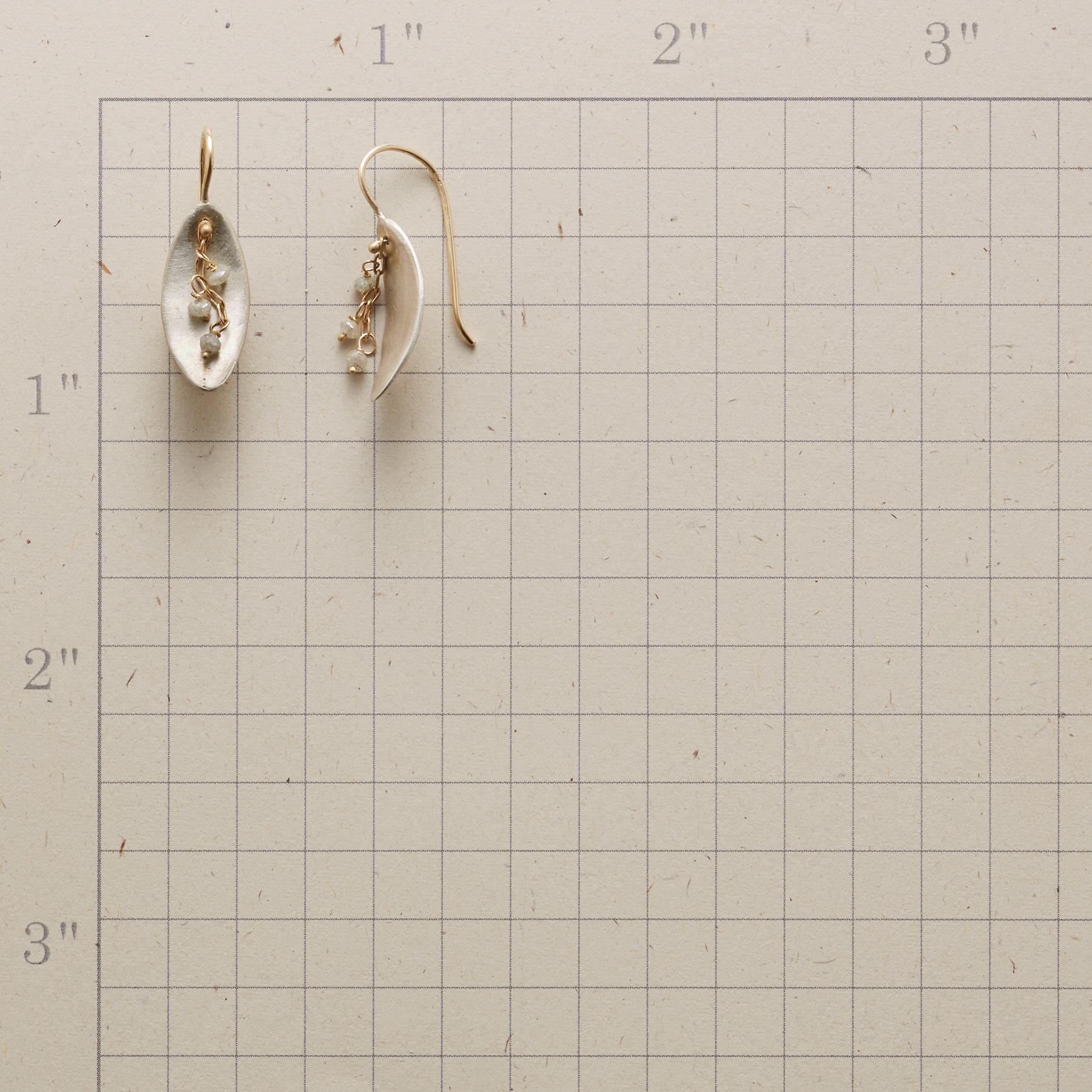 DIAMOND SWOOSH EARRINGS: View 2