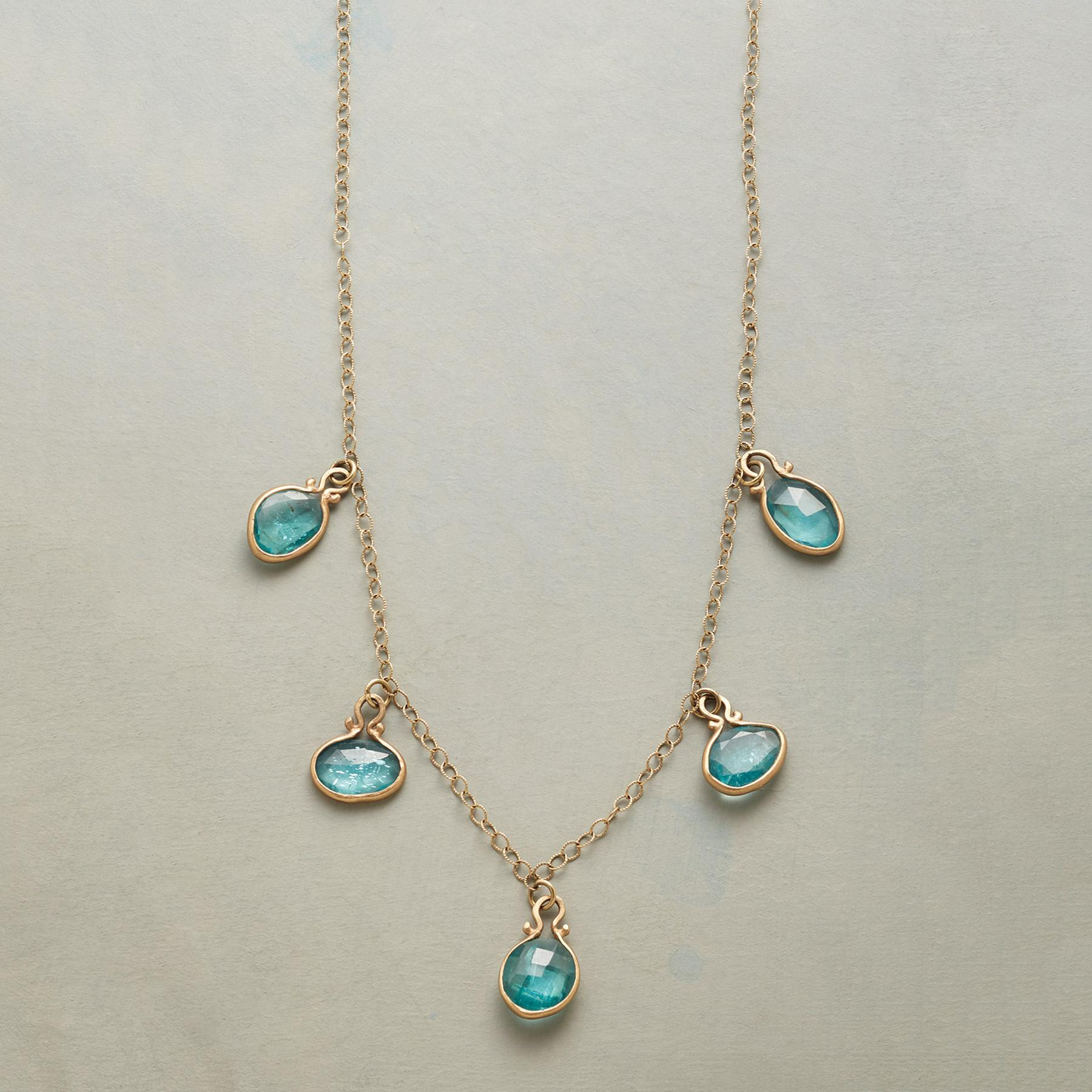 DROPS OF APATITE NECKLACE: View 1